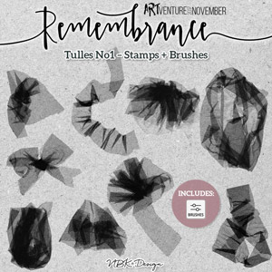 Remembrance {Painters-Toolbox: Tulles – Brushes & Stamps}