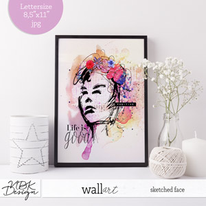 Sketched Face {Wall Art}