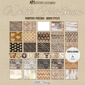 White Christmas {Painters-Toolbox: Wood Styles}