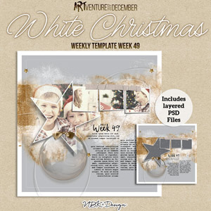 White Christmas {Weekly Template 49}