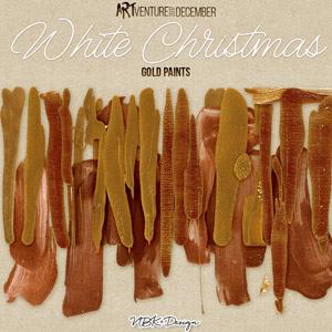 White Christmas {Golden Paintstrokes}