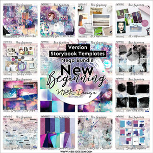 NEW BEGINNING {Megabundle Storybook Templates January 2016}