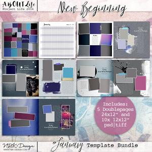 NEW BEGINNINGS {Template Bundle January 2016 | Weeks 1 - 4}