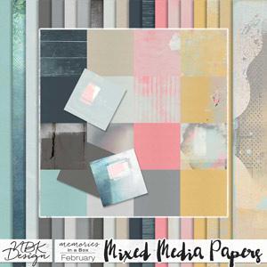 February {Paper-Set: Mixed Media}