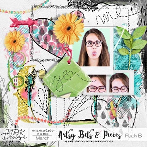 March {Artsy Bits & Pieces Pack B}