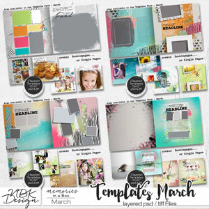 March {Weekly Templates 2015 | Weeks 10 – 13}