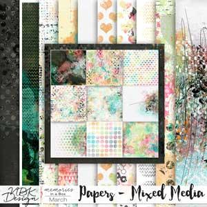 March {Paper Mixed-Media}