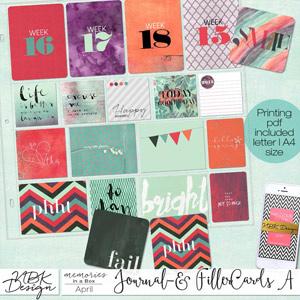 April {Journal- & Filler-Cards Set A}