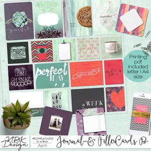 April {Journal- & Filler-Cards Set B}