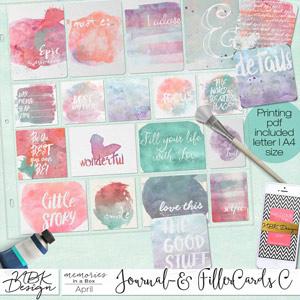 April {Journal- & Filler-Cards Set C}