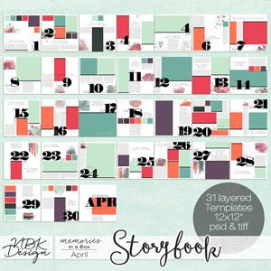 April {Storybook Template Album 2015}