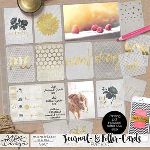 May {Journal- & Filler-Cards Set C - GOLD}