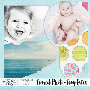 May {Teared Photo-Templates}
