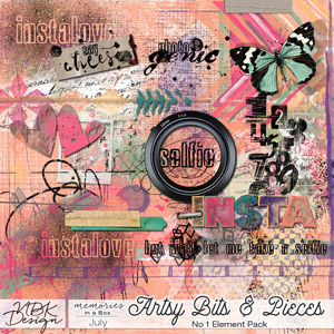 July {Artsy Bits and Pieces Pack A}