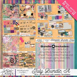 July {Megabundle A | Weekly Templates 2015}