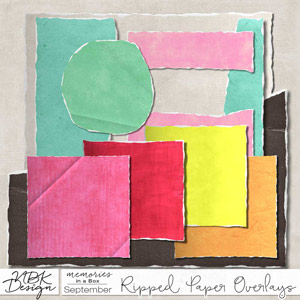 September {Paper-Set: Ripped Papers}