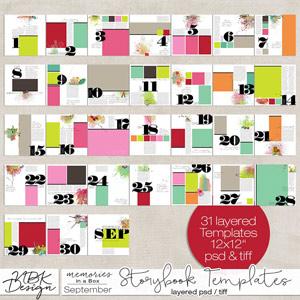 September {Storybook Template Album 2015}