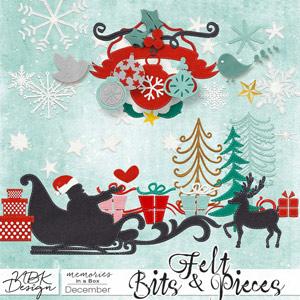 December {Felt Bits & Pieces}