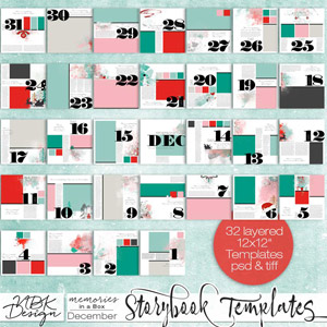 December {Storybook Template Album 2015}