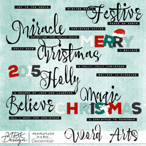 December {Word Arts}