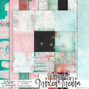 December {Paper-Set: Mixed Media}
