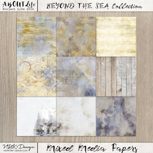 Beyond the Sea {Mixed Media Papers}