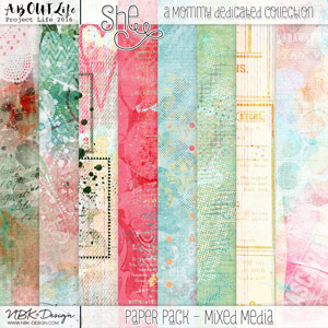 She {Mixed Media Papers}