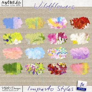Wildflowers {Impasto Paint Styles}