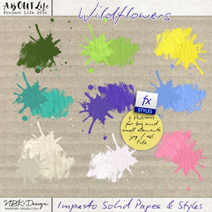 Wildflowers {Impasto Solid Colors Papers + Paint Styles}