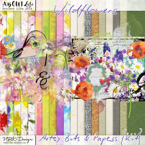 Wildflowers {Artsy Bits & Papers Kit}
