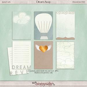 Dream Away   Journal Cards