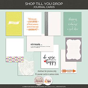 Shop Till You Drop | Journal Cards