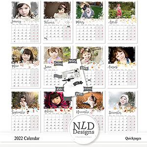 2022 Calendar Quickpages