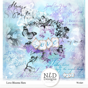 Love Blooms Here Wordart & Stamps