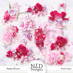 Poems Of Love Floral Overlays