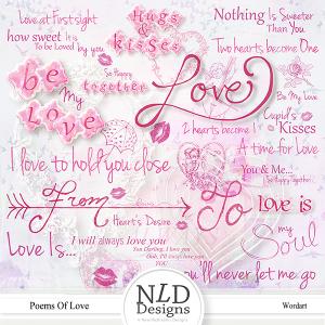 Poems Of Love Wordart