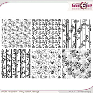 Pretty Floral Overlays