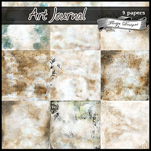 Art Journal { Add-On Papers PU } by Florju Designs