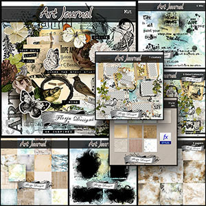 Art Journal { Collection PU } by Florju Designs
