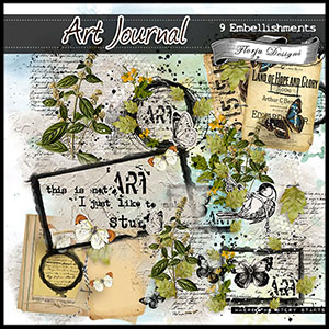 Art Journal { Embellishments PU } by Florju Designs