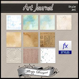 Art Journal {Style .asl PU } by Florju Designs