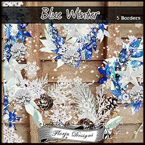 Blue Winter Borders