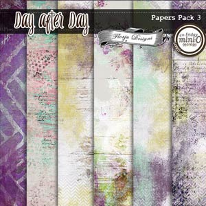 Day After Day { Pack Papers 3 PU } by Florju Designs