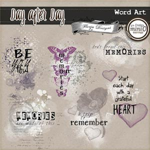 Day After Day { Word Art PU } by Florju Designs