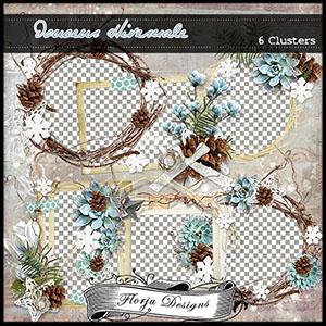 Douceur Hivernale { Clusters PU } by Florju Designs