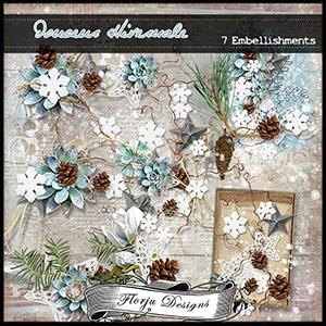 Douceur Hivernale { Embellishments PU }