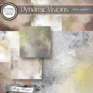 Dynamic Visions { Paper Pack 3 PU } by Florju Designs