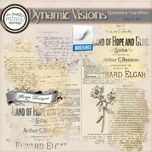 Dynamic Visions { Ephemera transfer PU } by Florju Designs