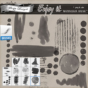 Enjoy It { Watercolor Brush PU } by Florju Designs