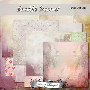 Beautiful Summer [ PAPERS PU ] by Florju Designs
